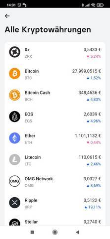 Bild 3: Revolut bietet im Feb. 2021 nur wenige Kryptowährungen an. Mit Bitcoin, Ether und Ripple sind große Player dabei. (screenshot: tom/dkf)