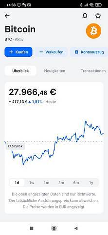 Bild 5: Auf einer gut aufbereiteten Seite mit vielen Infos steht der Bitcoin zum Kauf oder Verkauf. (screenshot: tom/dkf)